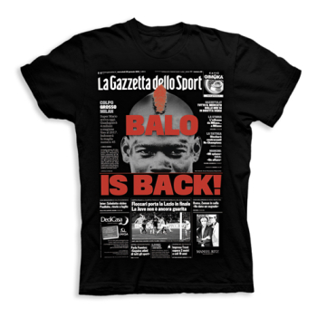 MILAN - Balo is back (NERA) - T-shirt Prime Pagine