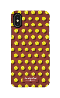 Cover Iphone X - Palline su sfondo marrone
