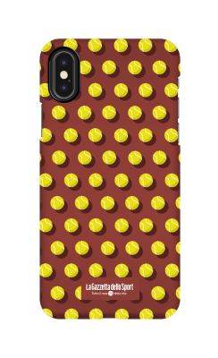 Cover Iphone 7 Plus - Palline su sfondo marrone - Cover Tennis