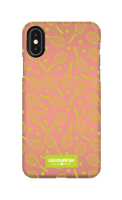 Cover Iphone X - Racchette arancio - Cover Tennis