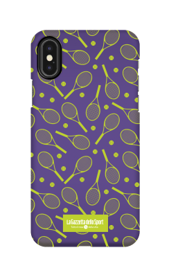 Cover Iphone 7 - Racchette blu - Cover Tennis