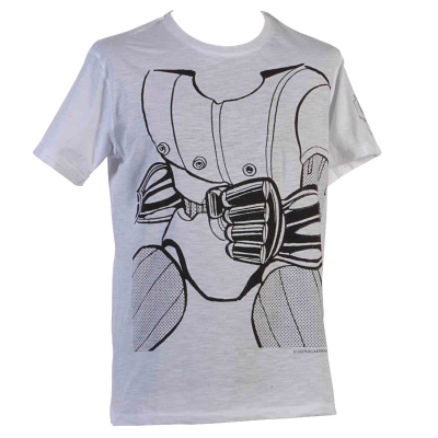 T-Shirt Robot Go Nagai bianco e nero - HAPPINESS for